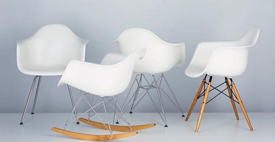 Eames Molded Plastic Dowel Base reintroduced by Herman Miller